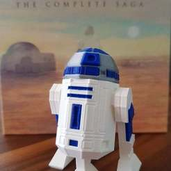 Download free 3D print files Low Poly R2D2 Three Color Remix 2, Dragon2781