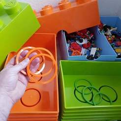 Descargar STL gratis Anillo para LEGO Box, Dragon2781