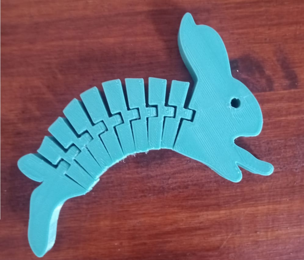 Flexi_rabbit1.jpg Download free STL file Flexi Hopping Rabbit • Design to 3D print, Ragkov