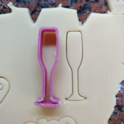 Download free 3D printing designs Champagne glass cookie cutter for new year, Ragkov