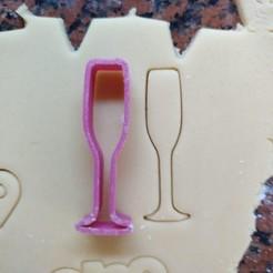 copa.jpg Télécharger fichier STL gratuit Coupe-biscuits en verre à champagne pour la nouvelle année • Plan pour impression 3D, Ragkov