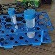 Download free 3D printer designs Falcon Tube Rack for 50mL and 15mL, Ragkov