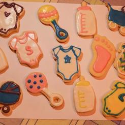 cookies1.jpeg Télécharger fichier OBJ gratuit Biscuits pour la douche de bébé • Design imprimable en 3D, Ragkov