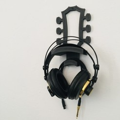 IMG_9616.jpg Download STL file Headphone holder • 3D printable object, Fer3D