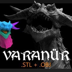 Download 3D printer files Varanur Dragon Head - 3D Printing Files, GabrielForbes