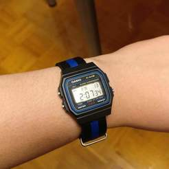 Download STL file Casio F-91W 18mm NATO Strap Adapter, LarryG