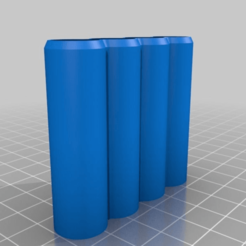 7e1e06f57067f2e11d0ca585b51b6440.png Download free STL file Loose AAA and AA Battery Holders • 3D printable object, LarryG