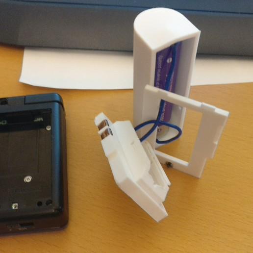 IMG_20170927_203558.jpg Télécharger fichier STL gratuit Adaptateur de batterie 18650 pour NDS Lite • Modèle pour imprimante 3D, LarryG