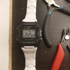 IMG_20200827_022454.jpg Download STL file Casio W218H Combi-style bracelet • 3D print object, LarryG