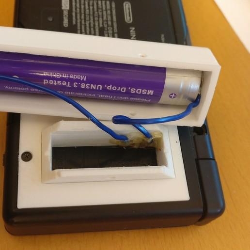 IMG_20170927_203439.jpg Télécharger fichier STL gratuit Adaptateur de batterie 18650 pour NDS Lite • Modèle pour imprimante 3D, LarryG
