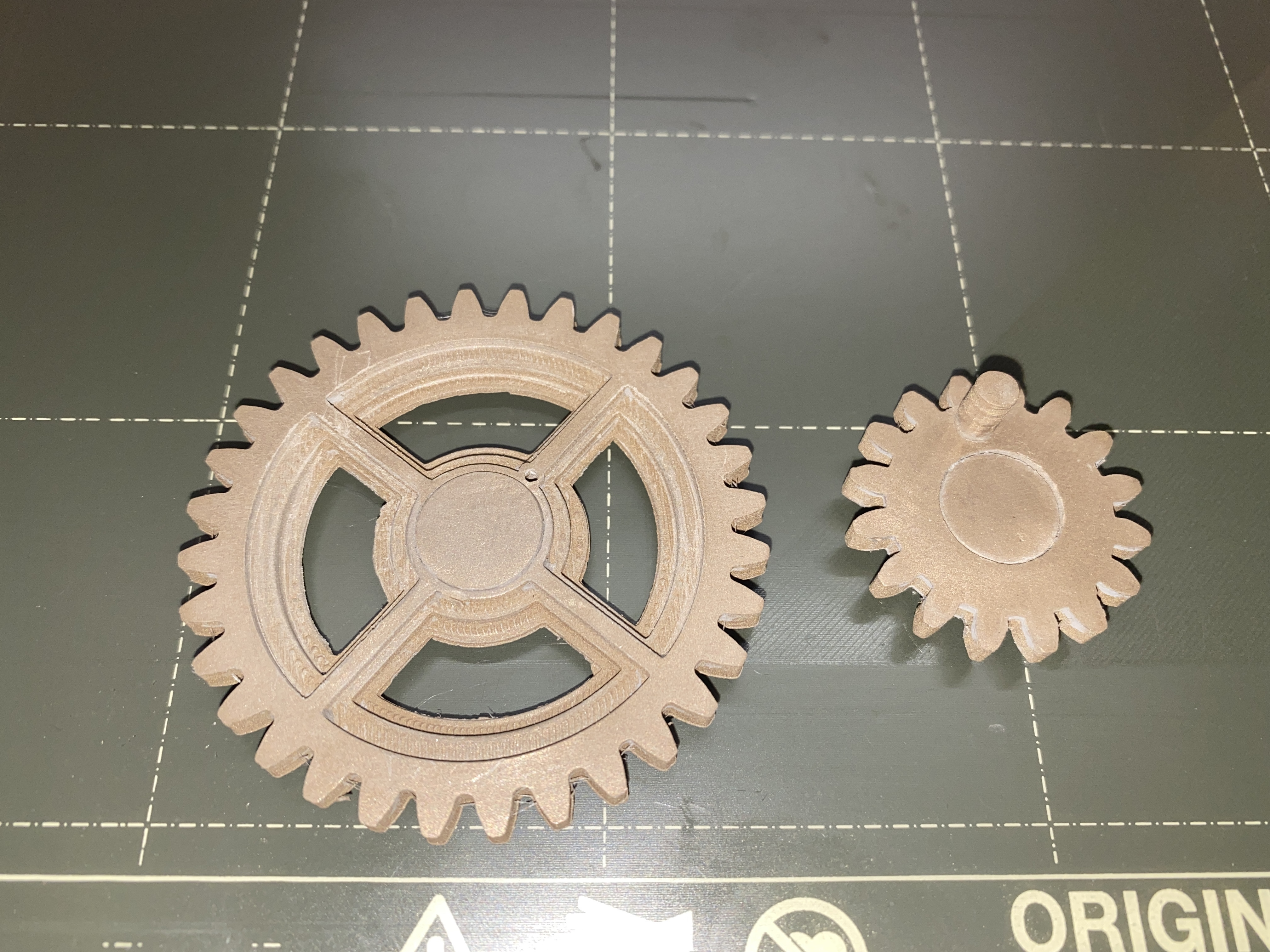 Both_Gears_in_Bronzefill.JPG Download free STL file Gear Driven Adjustable TUSH • 3D printing model, christinewhybrow