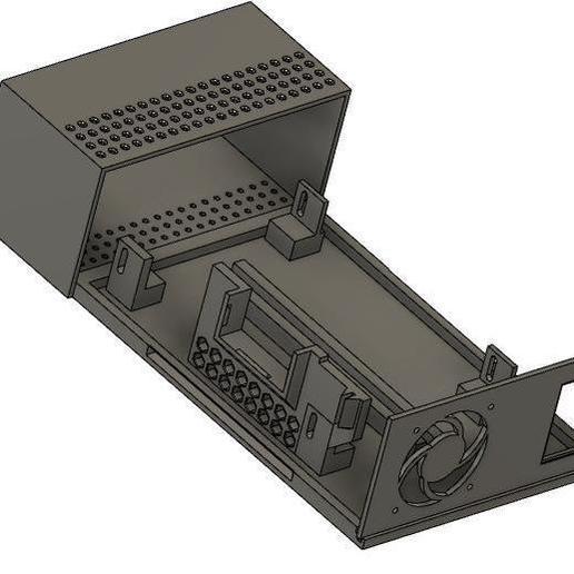 Front_Base__Rear.jpg Télécharger fichier STL gratuit Affaire Riden RD6006 sur l'alimentation électrique • Objet imprimable en 3D, christinewhybrow