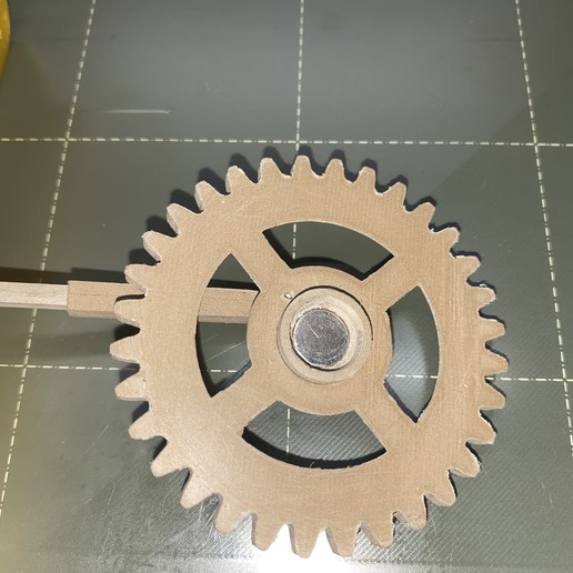 Underside_Large_Gear_showing_Magnet.JPG Download free STL file Gear Driven Adjustable TUSH • 3D printing model, christinewhybrow