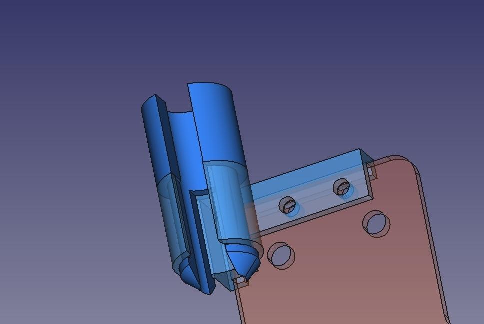 Image_1.jpg Download free STL file Anycubic i3 mega - Sostegno cablaggio estrusore • 3D printing template, Scigola