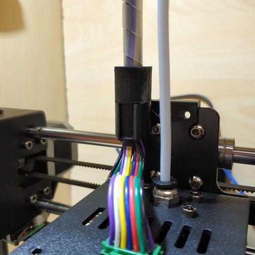 IMG_20200118_132905.jpg Download free STL file Anycubic i3 mega - Sostegno cablaggio estrusore • 3D printing template, Scigola