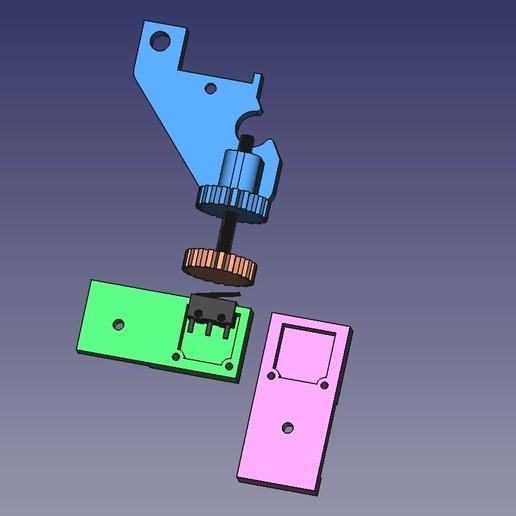 Z_stopV2_Completo.jpg Download free STL file Alfawise U30 Z Stop • Model to 3D print, Scigola
