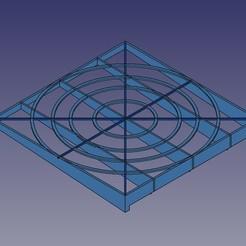 griglia01.jpg Download free STL file Salvagocce scolaposate • 3D print template, Scigola