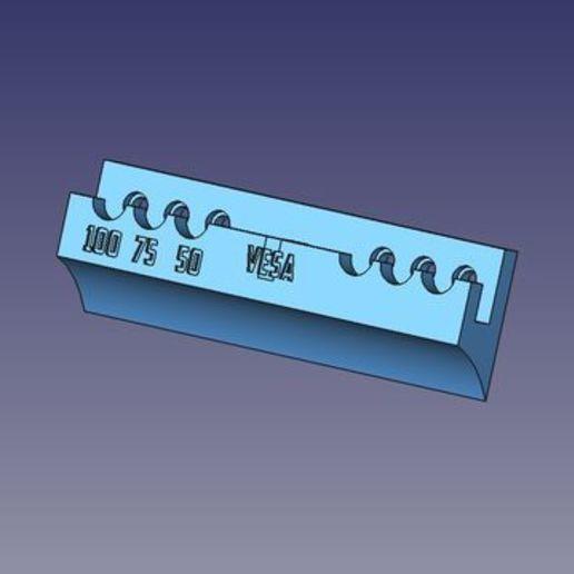 sopporto_VESA_100_TV.jpg Télécharger fichier STL gratuit Sopperto VESA par moniteur ou télévision • Design pour imprimante 3D, Scigola