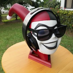 Download free 3D printing models Harley Quinn headphone stand, fasya