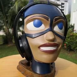 IMG_20200624_092031.jpg Download STL file Batgirl Headphone Stand • 3D printing design, fasya
