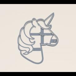 unicornio.stl.png Download STL file Unicorn Cookie Cutter • 3D printer template, araaftw