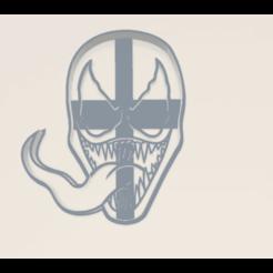 Venom Cookie Cutter.stl.png Download STL file Venom and Spiderman Cookie Cutters • 3D printer template, araaftw
