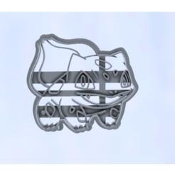 bulbasaur.png Télécharger fichier STL Coupe-biscuits Pokemon de Bulbasaur • Modèle imprimable en 3D, araaftw