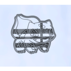 bulbasaur.png Download STL file Bulbasaur Cookie Cutter Pokemon • 3D printing design, araaftw
