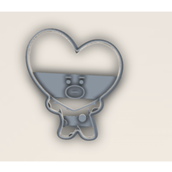 corazon.stl (1).png Download STL file BTS BT21 TATA COOKIE CUTTER • 3D printer model, araaftw