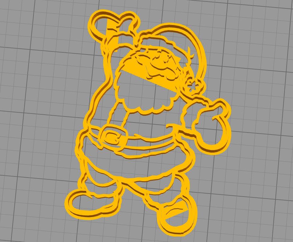 Santa Claus Cutter.JPG Download free STL file Santa Claus Full Body Cookie Cutter • 3D printer model, araaftw