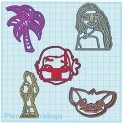 Moana Cutters.JPG Download STL file Moana Cookie Cutters • Model to 3D print, araaftw