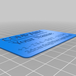 Download free 3D printer designs My Customized Business card maker, horacio85