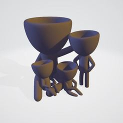 Captura.JPG Download STL file Pedro-Plant with 3 children • Template to 3D print, horacio85