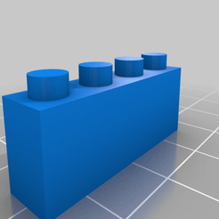 Download free 3D print files Lego Brick 4x1x1, horacio85