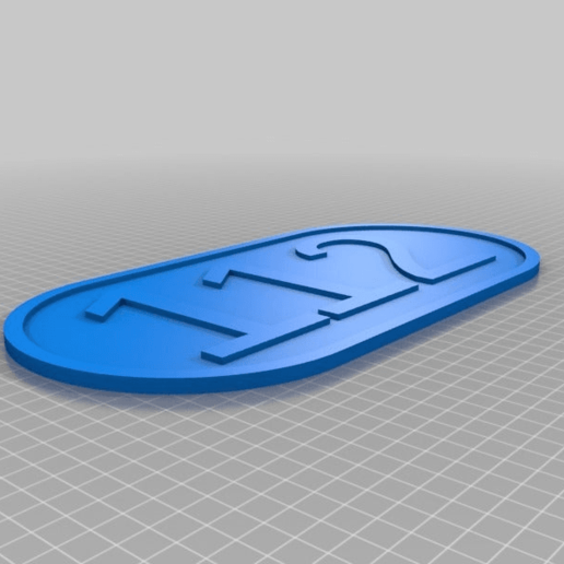 Download free 3D printer templates number house, horacio85