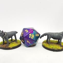 Download free 3D printer designs Wolves for 28mm tabletop gaming, AJade