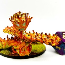 Download free 3D printer files Fire Elemental for 28mm Tabletop gaming, AJade