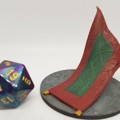 Télécharger plan imprimante 3D gatuit Tapis d'étouffement pour jeux de table 28 mm, AJade