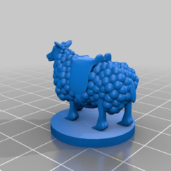 Download free STL Riding Sheep for Tabletop Gaming, AJade