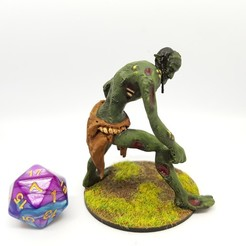 Download free 3D printing models Rot Troll/Undead Troll for 28mm Tabletop Gaming, AJade