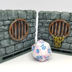 Download free 3D printing files Dungeon Stone sewer walls, AJade