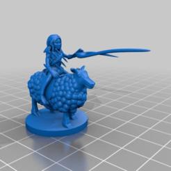 Descargar archivos 3D gratis Gnomo Brujo sobre la cabalgata de ovejas, AJade