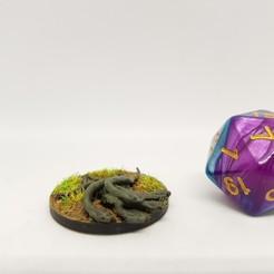 Télécharger plan imprimante 3D gatuit Snake Swarm pour jeu de table de 28mm, AJade