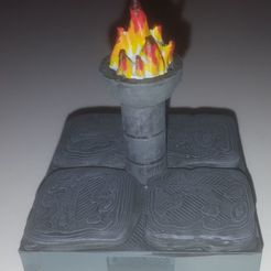 Download free 3D printing designs Openlock Brazier with flame, AJade