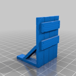 Download free STL Wooden Barricade for 28mm tabletop, AJade