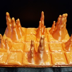 Download free 3D printer designs 2X2 and 3x3 Openlock Tiles with Stalagmites, AJade