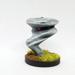 Download free STL Small Air Elemental for 28mm Tabletop gaming, AJade