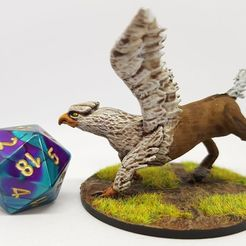 Download free 3D printer templates Hippogriff (Hippogryph) for 28mm Tabletop Roleplaying, AJade