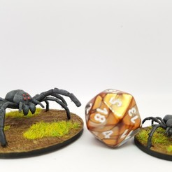 Download free 3D printing designs Giant spider for 28mm tabletop gaming, AJade