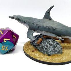Télécharger fichier impression 3D gratuit Requin marteau pour les jeux de table de 28 mm, AJade